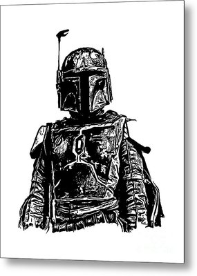 Boba Fett From The Star Wars Universe Metal Print by Edward Fielding