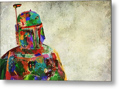 Boba Fett In Colour Metal Print by Mitch Boyce