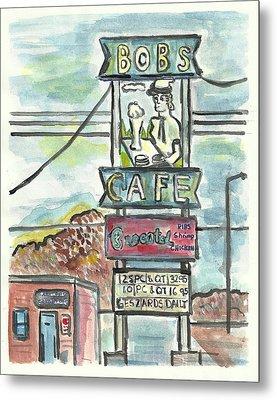 Bob's Cafe Metal Print by Matt Gaudian