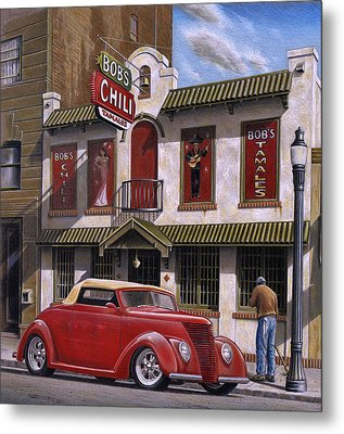 Bob's Chili Parlor Metal Print by Craig Shillam