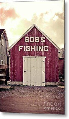 Bob's Fishing North Rustico Metal Print by Edward Fielding