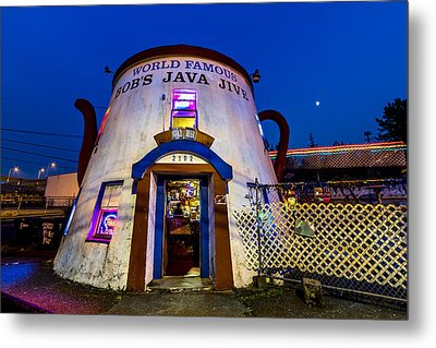 Bob's Java Jive - Historic Landmark During Blue Hour Metal Print