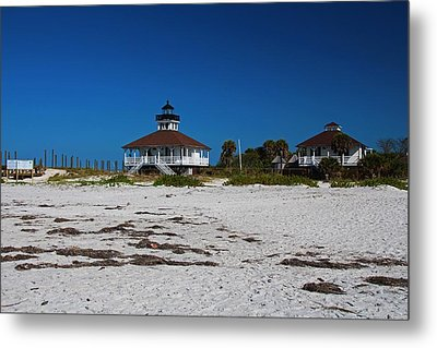 Metal Print featuring the photograph Boca Grande Lighthouse X by Michiale Schneider