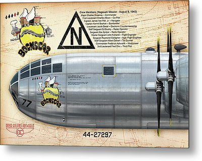 Bockscar Nosearts Metal Print by David Collins