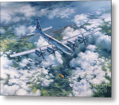 Dawn Of A Thousand Suns - Bockscar Over Nagasaki Metal Print by Randy Green