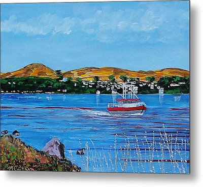 Bodega Bay From Campbell Cove Metal Print by Mike Caitham