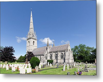 Bodelwyddan Church Metal Print by Steev Stamford