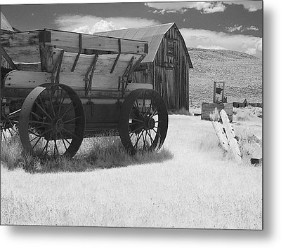Bodie Ca - Praise The Lord And Pass The Ammunition Metal Print by Christine Till