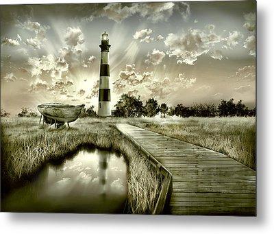 Bodie Island Lighthouse 3 Metal Print