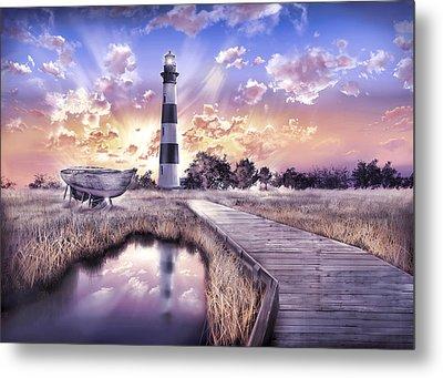 Bodie Island Lighthouse 4 Metal Print