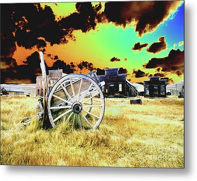 Metal Print featuring the photograph Bodie Wagon by Jim and Emily Bush