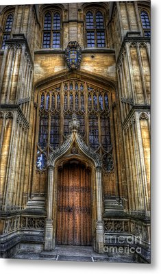 Bodleian Library Door - Oxford Metal Print by Yhun Suarez