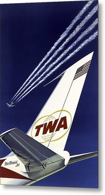 Boeing 707 Trans World Airlines C. 1960 Metal Print