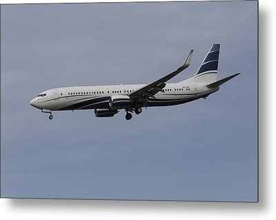 Boeing 737 Private Jet Metal Print