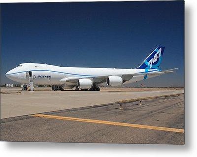 Boeing 747-8 N50217 At Phoenix-mesa Gateway Airport Metal Print