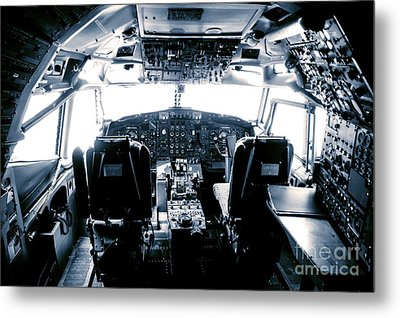 Metal Print featuring the photograph Boeing 747 Cockpit 22 by Micah May