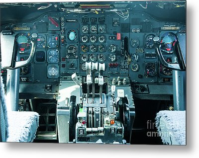 Metal Print featuring the photograph Boeing 747 Cockpit 23 by Micah May