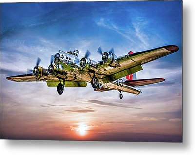 Metal Print featuring the photograph Boeing B17g Flying Fortress Yankee Lady by Chris Lord