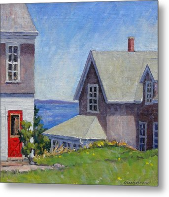Bogdanov House Monhegan Metal Print by Thor Wickstrom