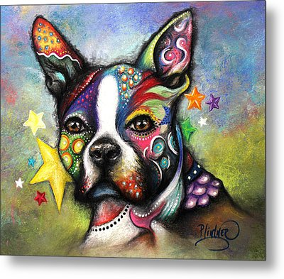 Boston Terrier Metal Print by Patricia Lintner