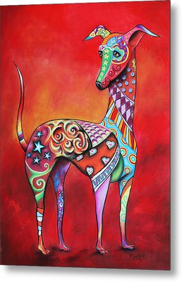 Italian Greyhound  Metal Print by Patricia Lintner