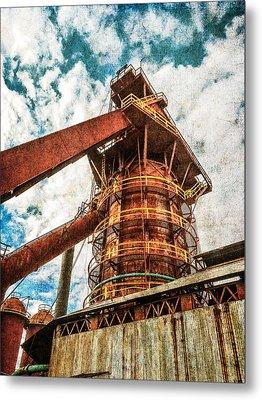 Boiler At Sloss Furnaces Metal Print by Phillip Burrow