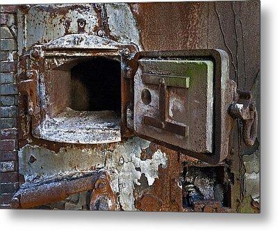 Boiler Door Metal Print by Murray Bloom