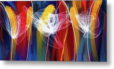 Bold Colors Modern Abstract Art Metal Print by Lourry Legarde