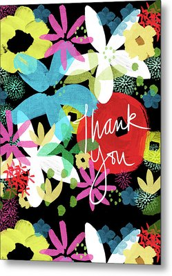 Bold Floral Thank You Card- Design By Linda Woods Metal Print by Linda Woods