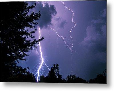 Bold Lightning Strokes Metal Print by Deborah Smolinske