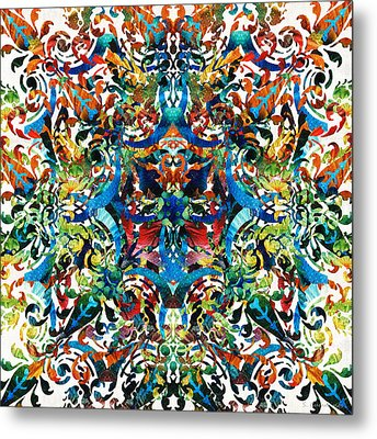 Bold Pattern Art - Color Fusion Design 8 By Sharon Cummings Metal Print by Sharon Cummings