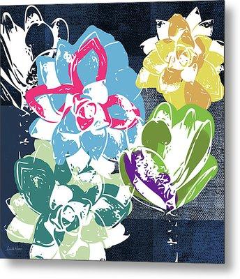 Bold Succulents 2- Art By Linda Woods Metal Print