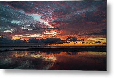Bold Sunrise Delray Beach Florida Metal Print