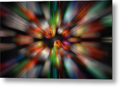 Metal Print featuring the photograph Bolders In Space by Cherie Duran
