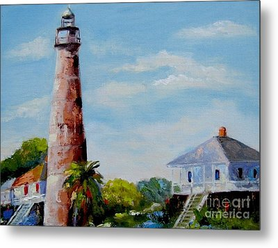 Bolivar Lighthouse Metal Print