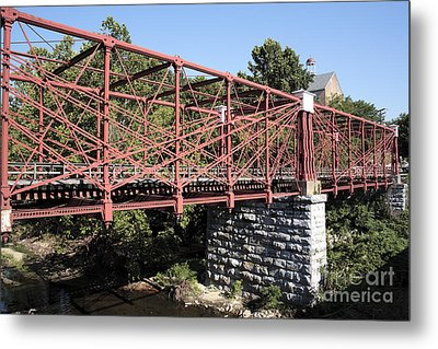 Bollman Truss Bridge At Savage In Maryland Metal Print by William Kuta