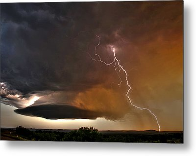 Bolt From The Heavens. Metal Print