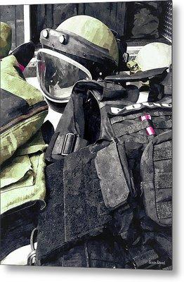Bomb Squad Uniform Metal Print