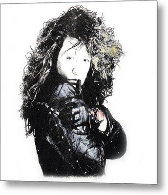Bon Jovi Metal Print by Gina Dsgn