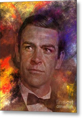 Bond - James Bond Metal Print by John Robert Beck