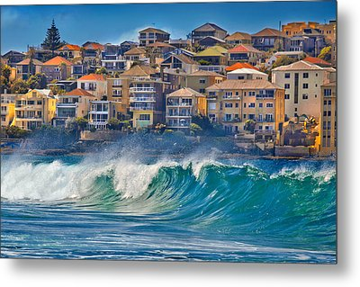 Bondi Waves Metal Print