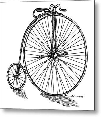 Boneshaker Bicycle Metal Print by Karl Addison