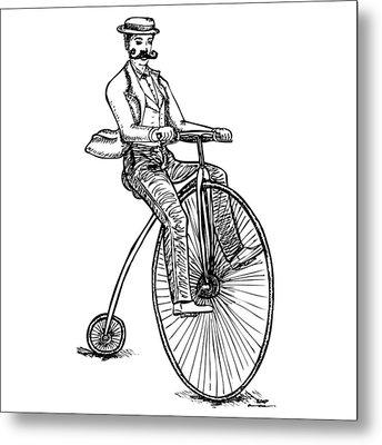 Boneshaker Velocipede Bicycle Metal Print by Karl Addison