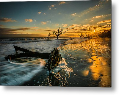 Boneyard Sunset Metal Print