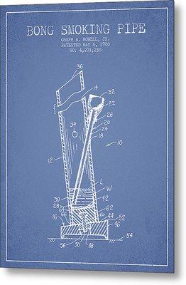 Bong Smoking Pipe Patent1980 - Light Blue Metal Print