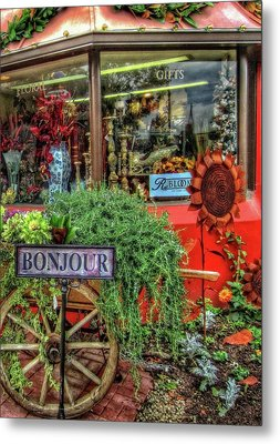 Metal Print featuring the photograph Bonjour Hello Good Day by Thom Zehrfeld