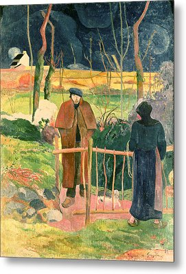 Bonjour Monsieur Gauguin Metal Print by Paul Gauguin