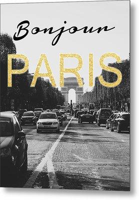 Bonjour Paris Metal Print