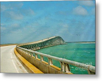 Bonner Bridge - Highway 12 Nc Metal Print by Anne Kitzman