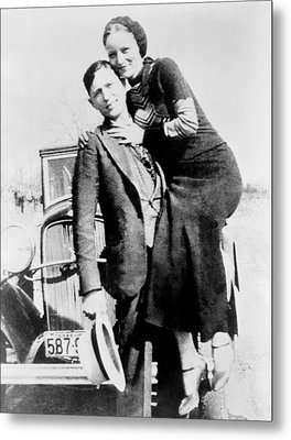 Bonnie And Clyde During Their 21 Month Metal Print